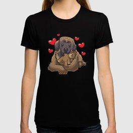 Cute Leonberger Dog with stuffed animal T-shirt