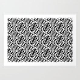Jasmine and Stars - Color: Black&White Art Print