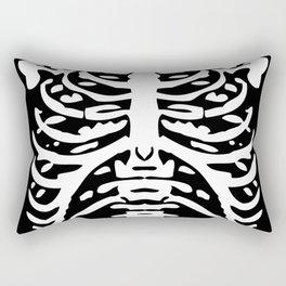 Human Rib Cage Pattern Black and White 2 Rectangular Pillow