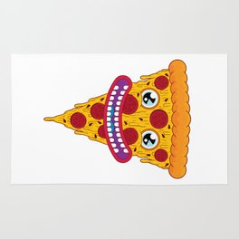 Pizza Face Rug