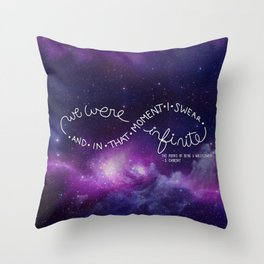 we were infinite (complete) Throw Pillow