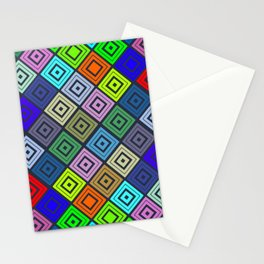 Modern Multicolor Patterns Stationery Cards