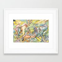 insect Framed Art Prints featuring Compositions insect by Maethawee Chiraphong