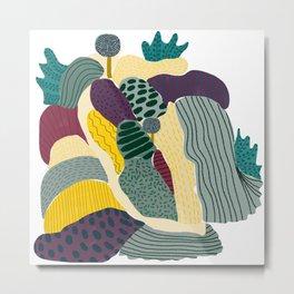 Landscape collage patterned print  Metal Print