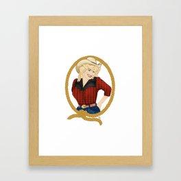 Dolly Framed Art Print