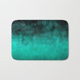 Aqua Cyan Spotted Bath Mat