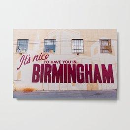 Birmingham Mural Metal Print