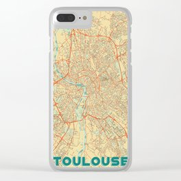Toulouse Map Retro Clear iPhone Case