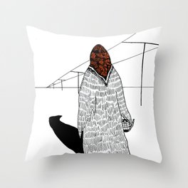 The Old Sorceress Throw Pillow