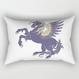 Blue Rearing Pegasus Rectangular Pillow