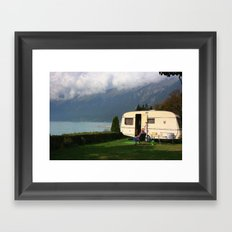 Alpine Lounging Framed Art Print