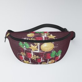 Happy Red Wine Tree Fanny Pack