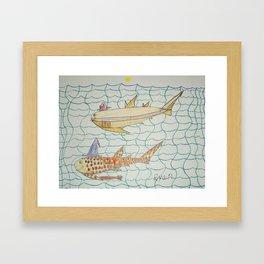 Shark Halloween Party Framed Art Print