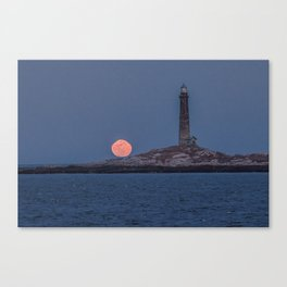 North Tower Blue Moon Rise Canvas Print