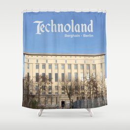 Technoland, Berlin, the Techno Meca Club! Shower Curtain