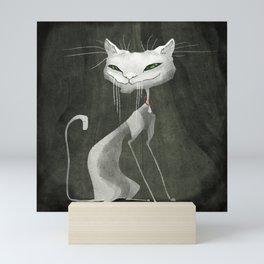 The White Cat Mini Art Print