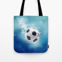 Soccer Water Splash Tote Bag