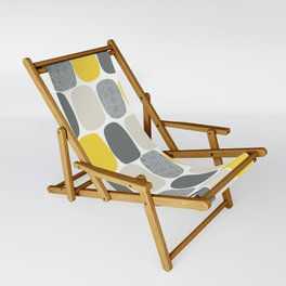Wonky Ovals in Yellow Sling Chair