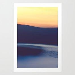 Mountain Sunrise Over Lake - Long Exposure Abstract Art Print