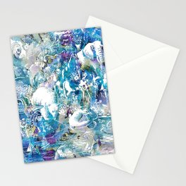 The barge waiting - Noah Stationery Cards