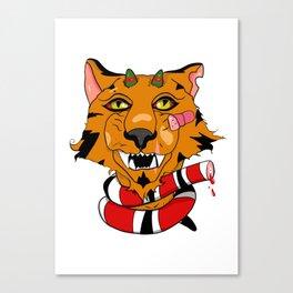 Triumphant Tiger Canvas Print