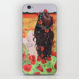 Poppies's girl iPhone Skin