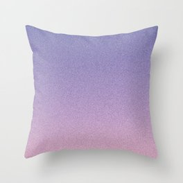 Deep Blue Pink Static Ombre Throw Pillow
