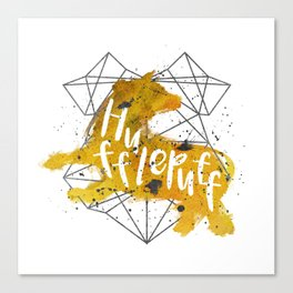 Hufflepuff Black Splatter Canvas Print