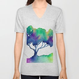 Hue Tree III Unisex V-Neck