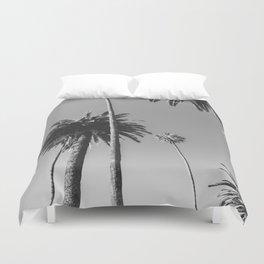 Palm Trees (Black and White) Duvet Cover