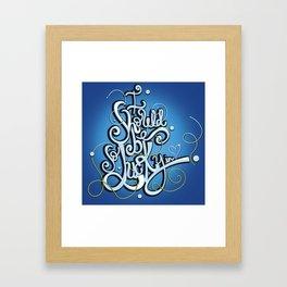 I Should Be So Lucky in Love Framed Art Print