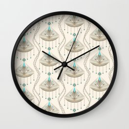 Beautiful medallions with blue appliqués . Wall Clock