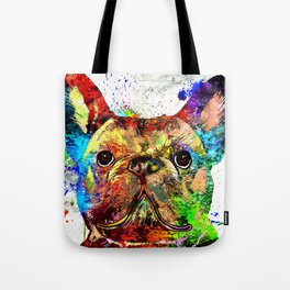 French Bulldog Grunge Tote Bag