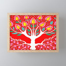 Love Grows Forever - Tomato Red Framed Mini Art Print