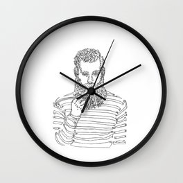 Beard Man with a Pipe Wall Clock