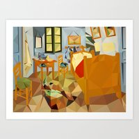 van gogh Art Prints featuring van gogh by gazonula