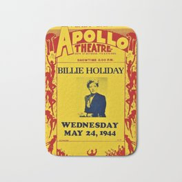 1944 Billie Holiday Concert Poster Apollo Theater Bath Mat