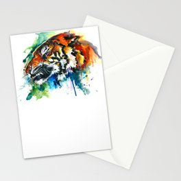 Orange Mad Tiger Watercolor Stationery Cards