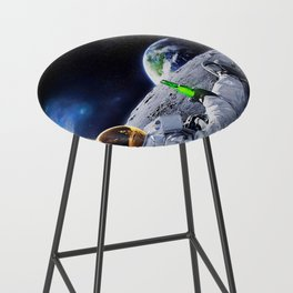 Astronaut on the Moon with beer Bar Stool