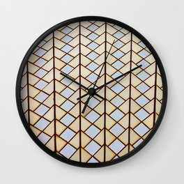 """Dream of Architecture Pattern """"Sydney Opera"""" Gold and Silver Wall Clock"""