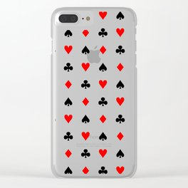 Playing cards pattern Clear iPhone Case