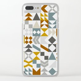 Mid West Geometric 05 Clear iPhone Case