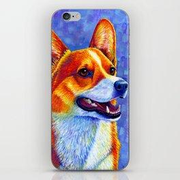 Colorful Pembroke Welsh Corgi Dog iPhone Skin