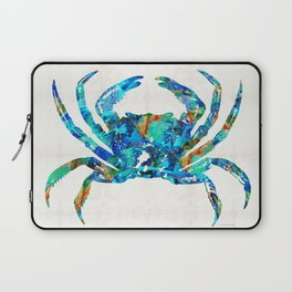 Blue Crab Art by Sharon Cummings Laptop Sleeve