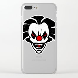 Creepy Mask Scary Clown  Clear iPhone Case