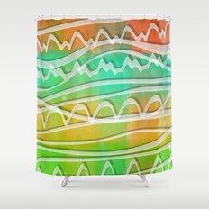 Rainbow Window Shower Curtain