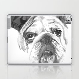 Portrait Of An American Bulldog In Black and White Laptop & iPad Skin