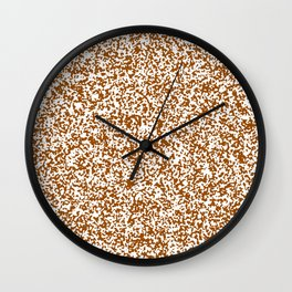 Tiny Spots - White and Brown Wall Clock