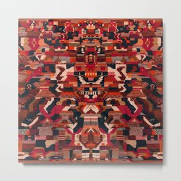 Multicolore Oriental Moroccan Design D16 Metal Print