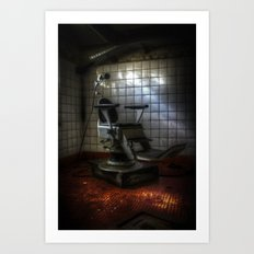 Dentist horror Art Print